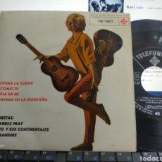 Discos de vinilo: FERNÁNDEZ PRAY/RUBINO Y SUS CONTINENTALES/VELA SANDERS EP ESPAÑA 1963. Lote 295048063