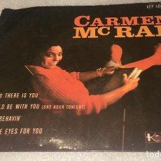 Discos de vinilo: EP CARMEN MCRAE - I'M GLAD THERE IS YOU Y OTROS TEMAS - KAPP KEP4041 -PEDIDO MINIMO 7€. Lote 295048093