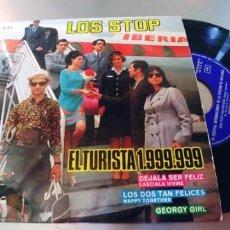 Discos de vinilo: LOS STOP-EP EL TURISTA 1.999.999 +3-BUEN ESTADO. Lote 295048433