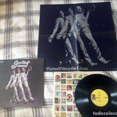 Discos de vinilo: CREAM - GOODBYE 1969 !! ERIC CLAPTON !! RARA COMPLETA 1ª EDIC ORG USA ATCO + SUPER POSTER, EX. Lote 53178586