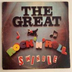 Discos de vinilo: DOBLE LP GATEFOLD SEX PISTOLS – THE GREAT ROCK 'N' ROLL SWINDLE EDICION ESPAÑOLA DE 1979. Lote 295269923