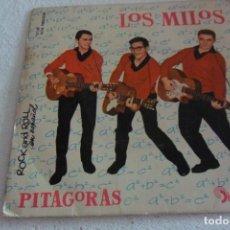 Discos de vinilo: LOS MILOS - PITAGORAS + 3 EP 1961. Lote 295293053