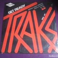 Discos de vinilo: TRAKS – GET READY - MAXI SINGLE POLYDOR 1983 PRECINTADO - FUNK ROCK DISCO 80'S. Lote 295294328
