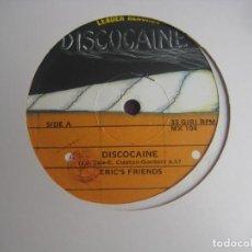 Discos de vinilo: ERIC'S FRIENDS – DISCOCAINE - MAXI SINGLE LEADER RECORDS 1983 - ITALODISCO ELECTRONICA DISCO 80'S. Lote 295296233
