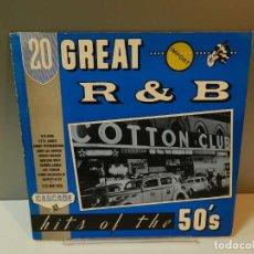 Discos de vinilo: DISCO VINILO LP. HUEY 'PIANO' SMITH & THE CLOWNS, ETTA JAMES – 20 GREAT R&B HITS OF THE 50'S. 33 RPM. Lote 295296258