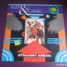 Discos de vinilo: KOOL & THE GANG – STRAIGHT AHEAD (LONG VERSION) - MAXI SINGLE DE LITE 1983 - FUNK DISCO ELECTRONICA. Lote 295298493