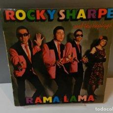 Discos de vinilo: DISCO VINILO LP. ROCKY SHARPE & THE REPLAYS – RAMA LAMA. 33 RPM. Lote 295301923