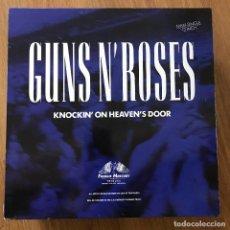 "Discos de vinilo: GUNS N' ROSES - KNOCKIN' ON HEAVEN'S DOOR - 12"" MAXISINGLE GEFFEN 1992. Lote 295302828"