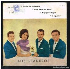 Discos de vinilo: LOS LLANEROS - LA FLOR DE LA CANELA + 3 - EP 1961. Lote 295303073