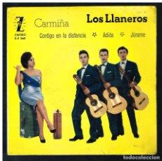 Discos de vinilo: LOS LLANEROS - CARMIÑA + 3 - EP 1961. Lote 295304648