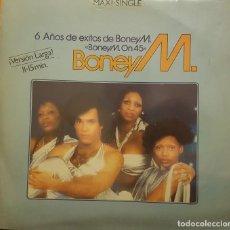 Discos de vinilo: BONEY M - 6 AÑOS DE EXITOS DE BONEY M VERSION LARGA - RIOS DE BABILONIA. Lote 295308273