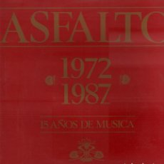 Dischi in vinile: ASFALTO - 1972-1987. 15 AÑOS DE MUSICA / LP SNIF RECORDS 1987 / DOBLE PORTADA RF-10640. Lote 295308648