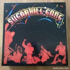 Discos de vinilo: SUGARHILL GANG - SUGARHILL GANG (1980) - LP REEDICIÓN EARMARK 2002 - VINILO TRANSPARENTE. Lote 295309048