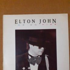 Discos de vinilo: ELTON JOHN. ICE ON FIRE. 1985 ESPAÑA. 826 213-1. DISCO Y CARÁTULA VG++. Lote 295310688
