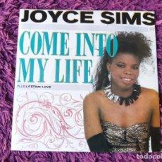"Discos de vinilo: JOYCE SIMS – COME INTO MY LIFE, VINILO 7"" SINGLE 1987 SPAIN 886 211-7. Lote 295312843"