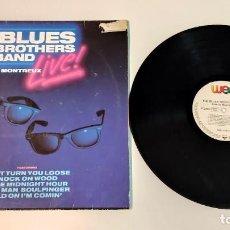"""Discos de vinilo: 1021- THE BLUES BROTHERS BAND IN MONTREAUX LIVE VIN 12"""" LP P F D G 1990 GER. Lote 295332373"""