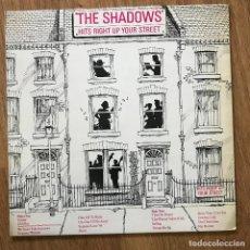 Discos de vinilo: SHADOWS - HITS RIGHT UP YOUR STREET - LP POLYDOR 1981. Lote 295334508
