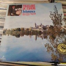 Discos de vinilo: JUAN CRUZ SAGREDO–FOLKLORE DE ESPAÑA - SALAMANCA. LP VINILO + ENCARTE CON LETRAS .. Lote 295335043