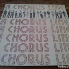 Discos de vinilo: B.S.O. A CHORUS LINE - LP ORIGINAL COLUMBIA CBS 1975 CARPETA DOBLE - ENCARTE Y LETRAS - EDICION USA. Lote 295336638