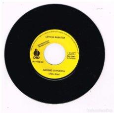 Discos de vinilo: LETICIA SABATER - ÁBREME LA PUERTA - SINGLE 1993 - PROMO - SOLO VINILO. Lote 295336878