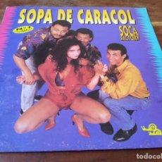 Discos de vinilo: SOCA FACTORY - SOPA DE CARACOL - LP ORIGINAL HISPAVOX 1991. Lote 295337173
