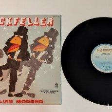 "Discos de vinilo: 1021- ROCKFELLER JOSE LUIS MORENO SUPER SINGLE 12"" POR VG DIS NM ES 1985 RARO!!!!!!. Lote 295339973"