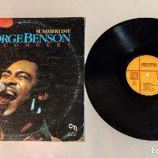 "Discos de vinilo: 1021- GEORGE BENSON IN CONCERT SUMMERTIME VIN 12"" LP POR G DIS VG 1982 ES. Lote 295345553"