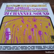 Discos de vinilo: PAUL LAVALLE - MARCH FROM BROADWAY TO HOLLYWOOD - LP GMG 1975 CARPETA DOBLE - MADE USA. Lote 295348533