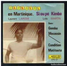 Discos de vinilo: LAURENT LARODE - GOMBO / MOCASSIN / CONDITION +1 - EP - ED. FRANCIA - SOLO PORTADA, SIN VINILO. Lote 295349863
