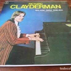 Discos de vinilo: RICHARD CLAYDERMAN - BALADA PARA ADELINA - LP ORIGINAL DICESA 1978 HECHO EN EL SALVADOR. Lote 295350418
