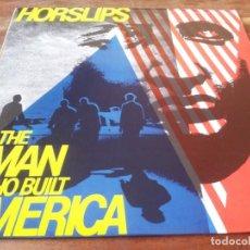 Discos de vinilo: HORSLIPS - THE MAN WHO BUILT AMERICA - LP ORIGINAL DJM RECORDS1979 ENCARTE Y LETRAS. Lote 295351263