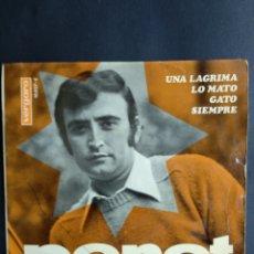 Discos de vinilo: PERET, UNA LÁGRIMA, VERGARA, 1967. Lote 295360513