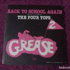"Discos de vinilo: THE FOUR TOPS – BACK TO SCHOOL AGAIN, VINILO 7"" SINGLE 1982 SPAIN 20 90 575. Lote 295361673"