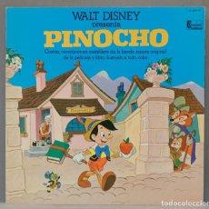 Discos de vinilo: LP. WALT DISNEY PRESENTA PINOCHO. Lote 295362323