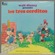 Discos de vinilo: LP. WALT DISNEY PRESENTA LOS TRES CERDITOS. Lote 295362388