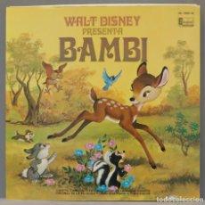 Discos de vinilo: LP. WALT DISNEY PRESENTA BAMBI. Lote 295362473