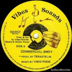 "Discos de vinilo: TENASTELIN - COMMERCIAL BWOY / BURIAL TONIGHT - 12"" [BASIC REPLAY / VIBES SOUNDS, 2005] REGGAE DUB. Lote 295365973"