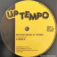 "Discos de vinilo: LUKIE D - ROUGH NECK A TOWN / LOVE WILL FIND A WAY - 12"" [UPTEMPO RECORDS, 2018] REGGAE DUB. Lote 295366133"