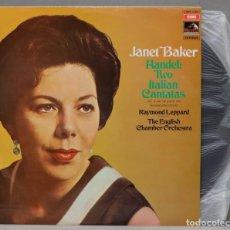 Disques de vinyle: LP. JANET BAKER. HANDEL. TWO ITALIAN CANTATAS. Lote 295370158
