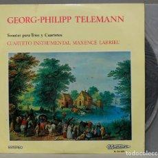 Discos de vinilo: LP. TELEMANN. SONATAS PARA TRIOS Y CUARTETOS. Lote 295376893