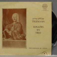 Discos de vinilo: LP. TELEMANN. SONATES EN TRIO. Lote 295376943