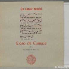 Discos de vinilo: LP. CORO DE CÁMARA DE LA UNIVERSIDAD DE SALAMANCA. IN NATALE DOMINI. Lote 295377093