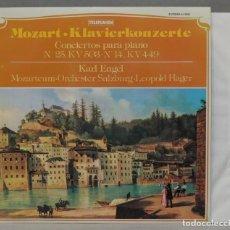 Discos de vinilo: LP. KLAVIERKONZERTER, CONCIERTOS PARA PIANO Nº 25, KV 503, Nº 14, KV 449. MOZART. ENGEL. Lote 295377248
