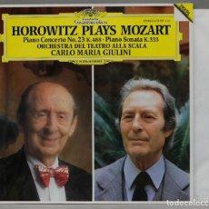 Discos de vinilo: LP. PIANO CONCERTO NO. 23 K. 488. PIANO SONATA K. 333. MOZART. HOROWITZ. Lote 295377328