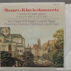 Discos de vinilo: LP. KLAVIERKONZERTE. PIANO CONCERTOS - CONCERTOS POUR PIANO NR.10, KV 365, NR.7, KV 242. MOZART. ENG. Lote 295377393