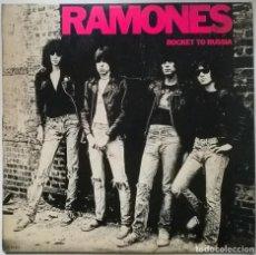 Discos de vinilo: RAMONES. ROCKET TO RUSSIA. SIRE, SPAIN 1977 LP + 2 ENCARTES (PRIMERA EDICIÓN ESPAÑOLA DE 1980). Lote 295377593