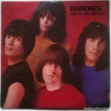Discos de vinilo: RAMONES. END OF THE CENTURY. SIRE, SPAIN 1980 LP + 2 ENCARTES. Lote 295378523