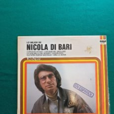 Discos de vinilo: NICOLA DI BARI-LP LO MEJOR-EN ESPAÑOL. Lote 295382028