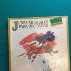 Discos de vinilo: DISCO DE VINILO. JOYAS MUSICALES PARA RECORDAR. CANCIONES PARA LA NOSTALGIA. Lote 295383283