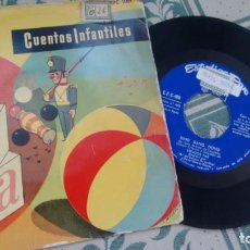 Discos de vinilo: SINGLE (VINILO) CON EL CUENTO INFANTIL DING DANG DONG AÑOS 50. Lote 295400013